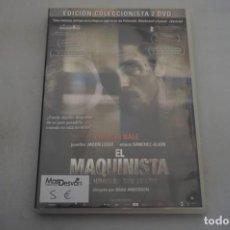 Cine: (6-B1) - 2 X DVD / EL MAQUINISTA / BRAND ANDERSON - 2 DISCOS. Lote 195539315