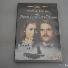 Cine: (6-B1) - 1 X DVD / THE FRENCH LIEUTEMANT´S WOMAN - MERYL STREEP, JEREMY IRONS. Lote 195539400