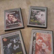 Cine: LOTE 4 DVD DE LA COLECCIÓN HITCHCOCK NÚMEROS 1,3,6,8. Lote 196075312