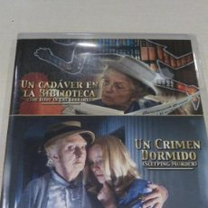 Cine: CINE DVD: AGATHA CHRISTIE - UN CADAVER EN LA BIBLIOTECA & UN CRIMEN DORMIDO - 2 PELICULAS EN 1 DVD. Lote 196649645