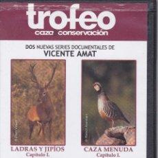 Cine: 6 DVD COLECCION LADRAS Y JIPIOS/CAZA MENUDA DE CAZA MAYOR Y MENOR EDITADOS REVISTA TROFEO. Lote 197024557