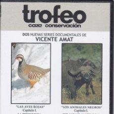 Cine: 4 DVD SERIE LAS AVES ROJAS/LOS ANIMALES NEGROS DE CAZA MAYOR Y MENOR EDITADOS REVISTA TROFEO. Lote 197026351