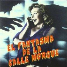 Cine: EL FANTASMA DE LA CALLE MORGUE DVD SCI FI TERROR SERIE B. Lote 197402543