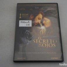 Cine: (9-B3) / 1 X DVD - EL SECRETO DE SUS OJOS / JUAN JOSE CAMPANELLA. Lote 198993851