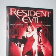 Cine: RESIDENT EVIL (MILA JOVOVICH, ERIC MABIUS, ANNA BOLT, COLIN SALMON, JOSEPH MAY) ** DVD CINE TERROR . Lote 199058296