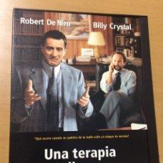 Cine: UNA TERAPIA PELIGROSA. ROBERT DE NIRO. BILLY CRYSTAL. Lote 199202883