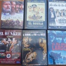 Cine: LOTE DE DVD CINE BELICO Y WESTER.. Lote 199491916