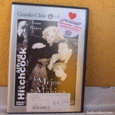 Cine: LO MEJOR ES LO MALO CONOCIDO, DE HITCHCOCK. Lote 199505533
