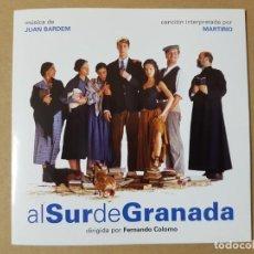 Cine: BSO ORIGINAL AL SUR DE GRANADA DE FERNANDO COLOMO CON VERÓNICA SÁNCHEZ. CINE ESPAÑOL. Lote 199627447