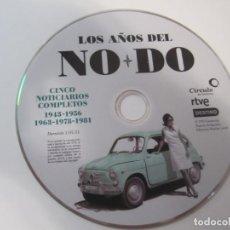 Cine: DVD LOS AÑOS DEL NODO CINCO NOTICIARIOS COMPLETOS 1943-1956-1963-1978-1981 RTVE PLANETA DE AGOSTINI. Lote 200373316