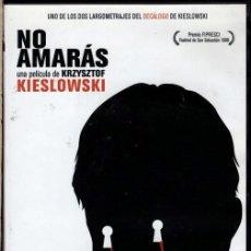 Cine: NO AMARAS DVD (KIESLOWSKI) UN AMOR NO CORRESPONDIDO Y...SENTIMIENTOS DESESPERADOS. Lote 245138180