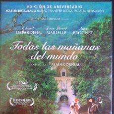 Cinema: TODAS LAS MAÑANAS DEL MUNDO (EDIC. 25 ANIVERSARIO) (ALAIN CORNEAU, 1991, G. DEPARDIEU) (OTRA FOTO). Lote 202029025