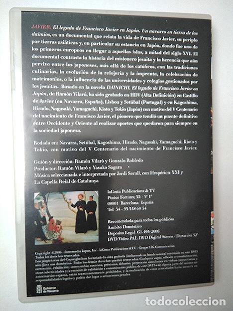 Cine: Javier. El legado de Francisco Javier en Japón. Un Navarro en tierras de los Daimios. DVD PAL 52' - Foto 2 - 202281237