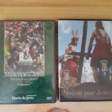 Cine: DOS DVD DE SEMANA SANTA DE JEREZ DE LA FRONTERA, UNO SIN ABRIR, AÑO 07Y 11. Lote 202890627