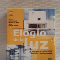 Cine: 3 DVD ELOGIO DE LA LUZ. 12 DOCUMENTALES SOBRE ARQUITECTURA (2003) (MONEO, TUSQUETS, CAMPO BAEZA...). Lote 203032898