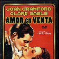 Cine: AMOR EN VENTA DVD (CLARK GABLE + JOAN CROWFORD) ...MUY POCOS PUEDEN PRESUMIR DE TENER ESTE DVD.... Lote 204238910