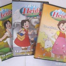 Cine: LOTE 3 DVD HEIDI HEIDI EN LA MONTAÑA HEIDI EN LA CIUDAD HEIDI VUELVE A LAS MONTAÑAS. Lote 251064135