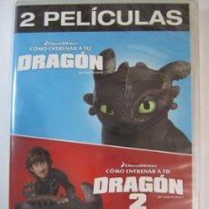 Cine: DVD COMO ENTRENAR UN DRAGON 1 Y 2 DREAMWORKS 2 PELICULAS NUEVO PRECINTADO. Lote 204699277