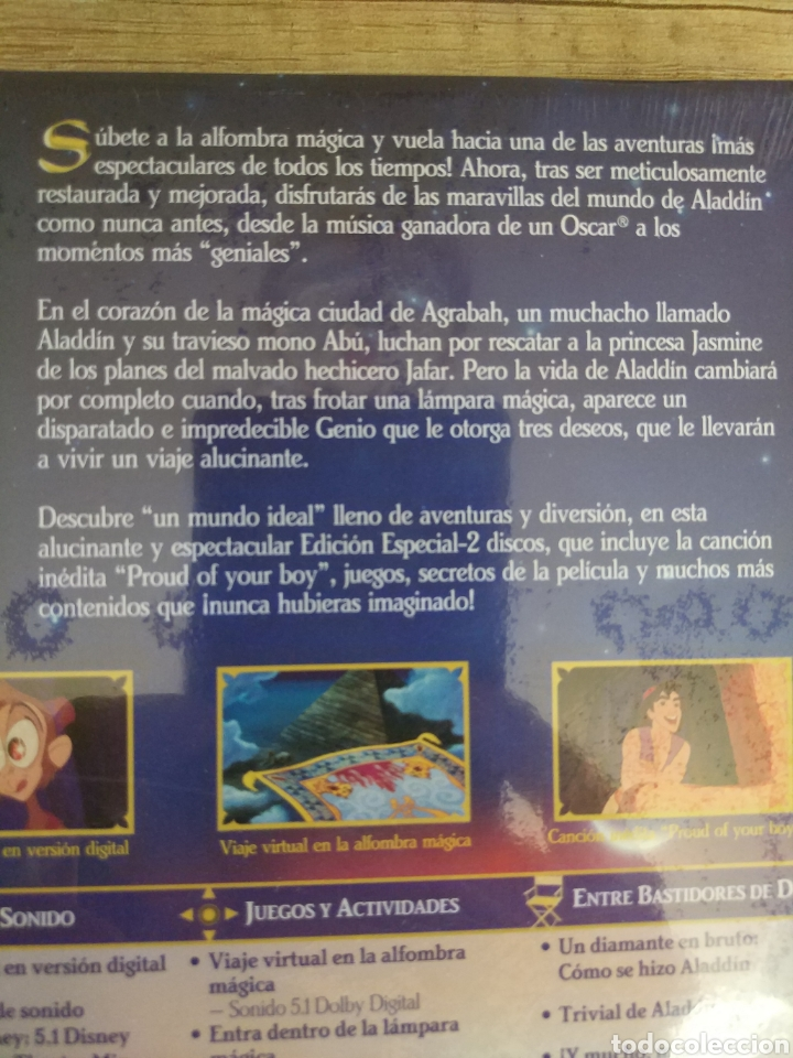 Cine: Aladdin Edición Especial - 2 DVD Disney Precintado - Foto 7 - 204806297