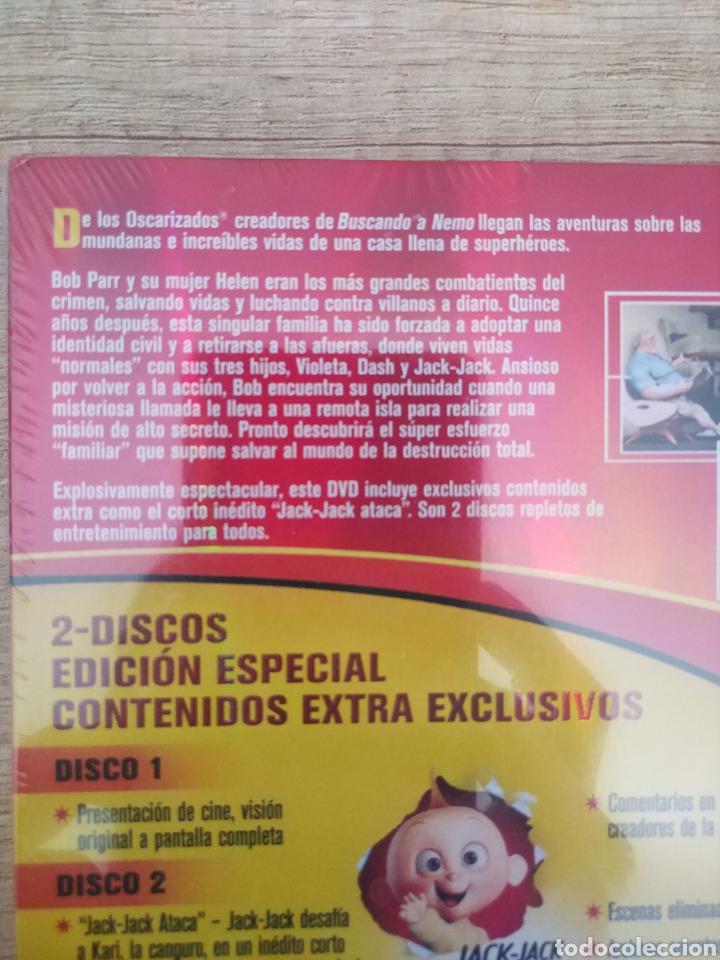 Cine: LOS INCREIBLES EDICIÓN ESPECIAL 2 DVD. PRECINTADO - Foto 8 - 204826641