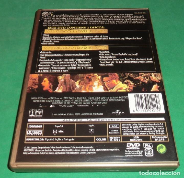Cine: DVD EL REGRESO DE LA MOMIA / BRENDAN FRASER (EDIC.ESPECIAL-2 DVD´S (UN SOLO PASE) PERFECTO ESTADO!!! - Foto 2 - 205341210