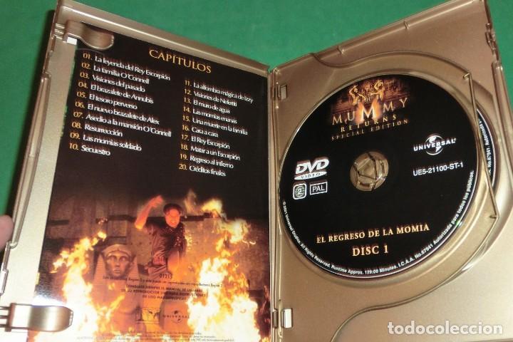 Cine: DVD EL REGRESO DE LA MOMIA / BRENDAN FRASER (EDIC.ESPECIAL-2 DVD´S (UN SOLO PASE) PERFECTO ESTADO!!! - Foto 3 - 205341210