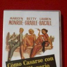 Cine: DVD COMO CASARSE CON UN MILLONARIO - MARILYN MONROE. Lote 268586259