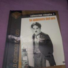 Cine: DVD. LA QUIMERA DEL ORO. CHARLES CHAPLIN. PRECINTADO. INCLUYE LIBRO DE 60 PÁGINAS A COLOR.. Lote 206243293
