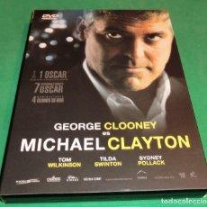Cine: DVD MICHAEL CLAYTON / GEORGE CLOONEY (UN SOLO PASE) PERFECTO ESTADO!!!. Lote 206338265