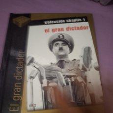 Cine: DVD. EL GRAN DICTADOR. CHARLES CHAPLIN. INCLUYE LIBRETO DE 60 PÁGINAS A COLOR.. Lote 206385807