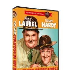 Cine: QUE PAR DE RECLUTAS V.O.S.(STAN LAUREL, OLIVER HARDY). DVD NUEVO Y PRECINTADO. Lote 206407037