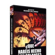Cine: QUE HABEIS HECHO CON SOLANGE (MASSIMO DALLAMANO). DVD NUEVO Y PRECINTADO. Lote 206407206