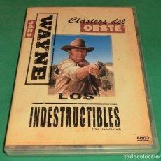 Cine: DVD LOS INDESTRUCTILBES / JOHN WAYNE (UN SOLO PASE) PERFECTO ESTADO!!!. Lote 206413222