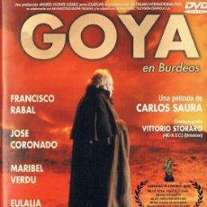 Cine: GOYA EN BURDEOS FRANCISCO RABAL. Lote 206493021