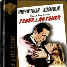 Cine: TENER Y NO TENER. LIBRO + DVD. Lote 207045786