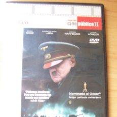 Cine: EL HUNDIMIENTO, PELICULA DVD DE OLIVER HIRSCHBIEGEL. Lote 207046515