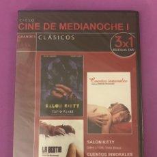 Cine: DVD - PRECINTADO - SALON KITTY - CUENTOS INMORALES - LA BESTIA. Lote 207140771
