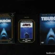 Cine: TIBURON EDICION 30 ANIVERSARIO - EDICION 2 DISCOS CON LIBRETO - DVD COMO NUEVOS. Lote 207140973