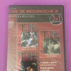 Cine: DVD - PRECINTADO - CLAUDIA Y GRETA - SEXUALMENTE VUESTRO - PORNOLUJURIA. Lote 207141322