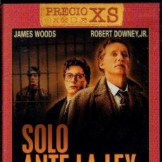 Cine: SOLO ANTE LA LEY DVD (JAMES WOODS) UN JOVEN ABOGADO SE JUEGA LA VIDA POR DEFENDER LA JUSTICIA. Lote 207256102