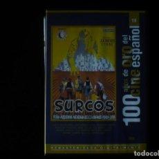 Cine: SURCOS - 100 AÑOS DE ORO DEL CINE ESPAÑOL - DVD COMO NUEVO. Lote 207332313
