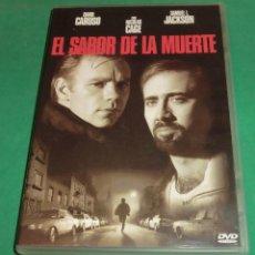 Cine: DVD EL SABOR DE LA MUERTE / DAVID CARUSO / NICOLAS CAGE (DE COLECCIONISTA) PERFECTO ESTADO!. Lote 207364778
