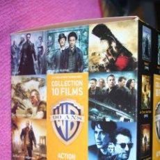 Cine: BOX *** COLECCIÓN WARNER BROS; PACK --) 10 PELÍCULAS DVD CINE ACCIÓN (EN FRANCÉS) ***. Lote 207546816