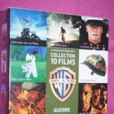 Cine: BOX *** COLECCIÓN WARNER BROS; PACK --) 10 PELÍCULAS DVD CINE GUERRA / BÉLICO (EN FRANCÉS) ***. Lote 207547205