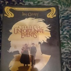 Cine: DVD EN INGLES - A SERIES OF UNFORTUNATE EVENTS - EMILY BROWNING - JIM CARREY. Lote 207571630