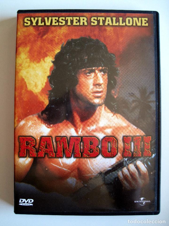 RAMBO 3 • DVD (SYLVESTER STALLONE) • COMO NUEVO (Cine - Películas - DVD)