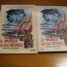 Cine: EL MUNDO EN SUS MANOS / GREGORY PECK - TODO UN CLASICO. Lote 208004258