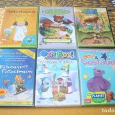 Cine: PACK 3.- LOTE 6 PELÍCULAS CINE INFANTIL DVD VARIADAS EN FRANCÉS * NUEVAS Y PRECINTADAS *. Lote 208465138