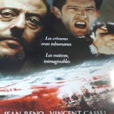 Cine: LOS RIOS DE COLOR PURPURA JEAN RENO VINCENT CASSEL 739. Lote 209038705