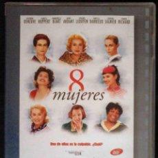 Cinéma: TODODVD: 8 MUJERES (CATHERINE DENEUVE, ISABELLE HUPPERT, EMMANUELLE BEART, FANNY ARDANT...). Lote 209782810